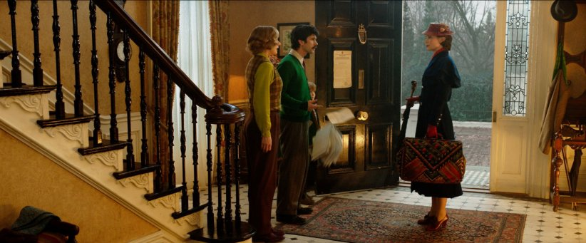 Le Retour de Mary Poppins : Photo Ben Whishaw, Emily Blunt, Emily Mortimer, Joel Dawson