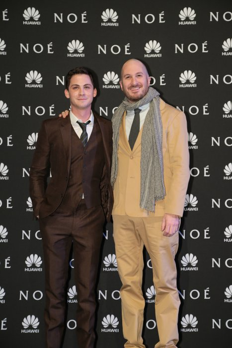 Noé : Photo promotionnelle Darren Aronofsky, Logan Lerman