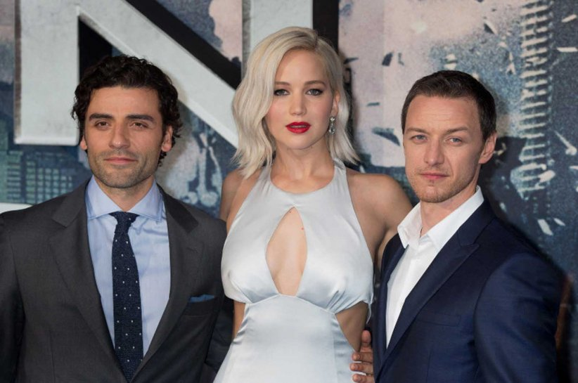 X-Men: Apocalypse : Photo promotionnelle James McAvoy, Jennifer Lawrence, Oscar Isaac