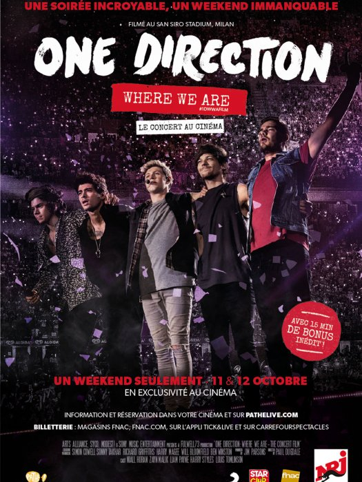 One Direction: Where We Are - The Concert Film : Affiche