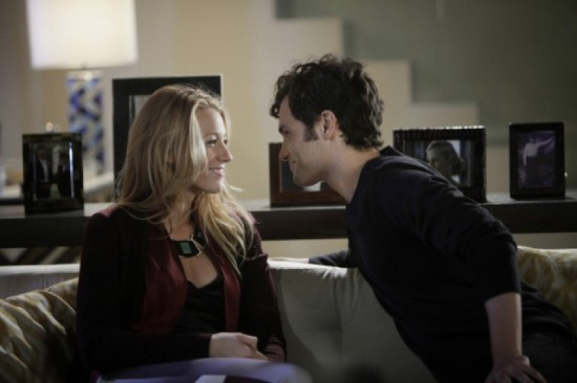 "Blake Lively et Penn Badgley dans ""Gossip Girl"""