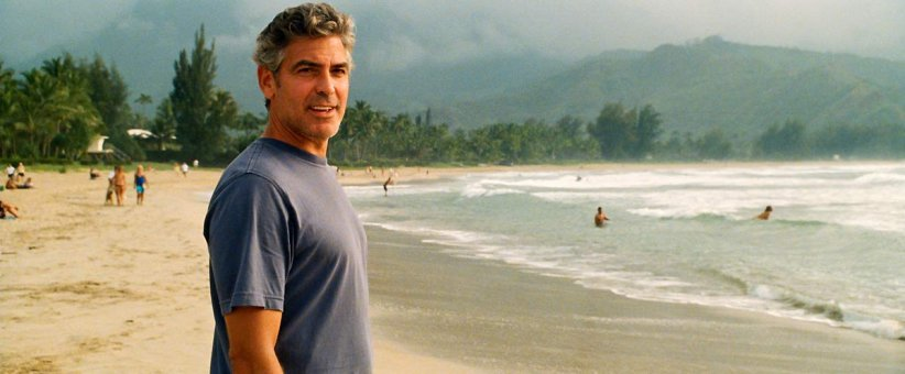 "George Clooney, véritable silver fox dans ""The Descendants"""