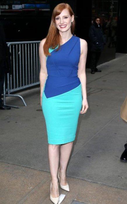 """Résultat de recherche d'images pour """"jessica chastain robe bleur"""""""""""