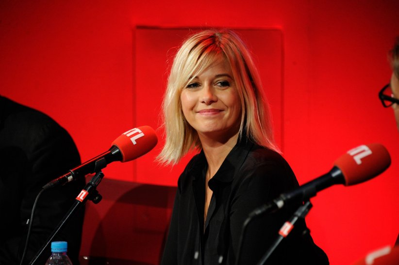 Flavie Flament, sur le plateau de la radio RTL, à Paris, le 4 septembre 2014.