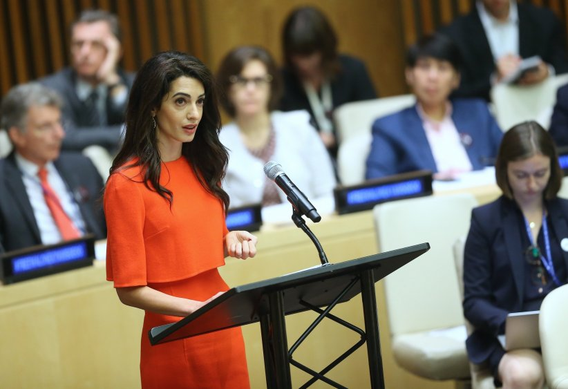 Amal Clooney récompensée par les Nations Unies