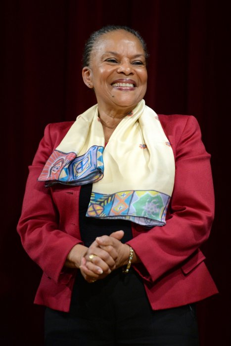 Christiane Taubira à l'université de New York le 27 janvier 2016.