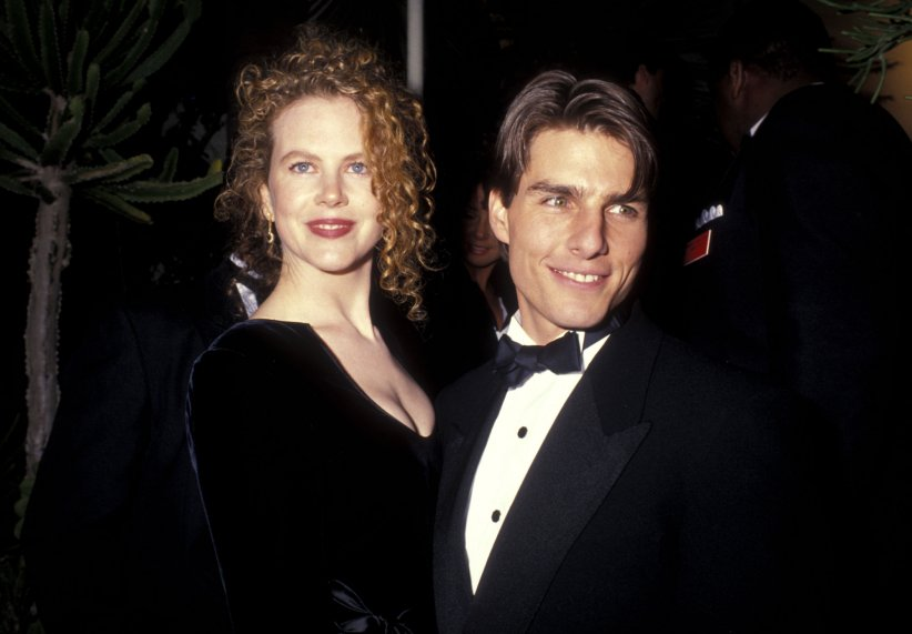 Nicole Kidman et Tom Cruise à l'after de la 63ème cérémonie des Oscars, à Hollywood en Californie, le 25 mars 1991.