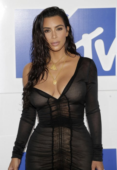 Kim Kardashian aux MTV Video Music Awards à New York, le 28 août 2016.