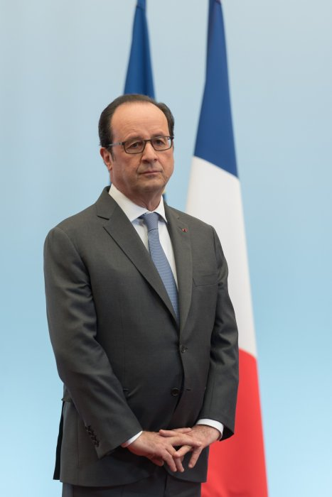 François Hollande assiste à la journée internationale des droits de l'enfant au palais de l'Elysée à Paris, le 19 novembre 2016.