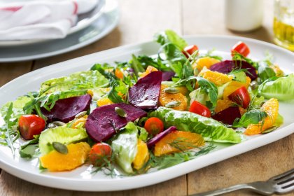 Salade de betterave et orange
