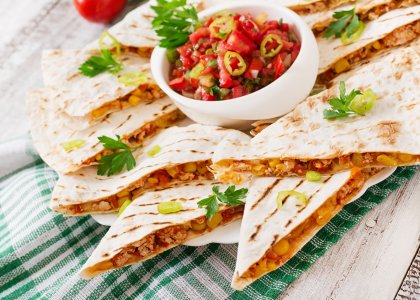Quesadillas à la mexicaine