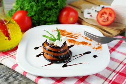 Mille Feuille D Aubergine Tomate Et Mascarpone