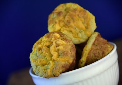 Muffins courgette-cheddar
