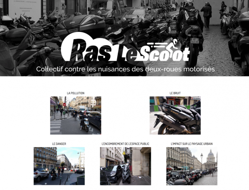 Le site web du Collectif Ras le Scoot